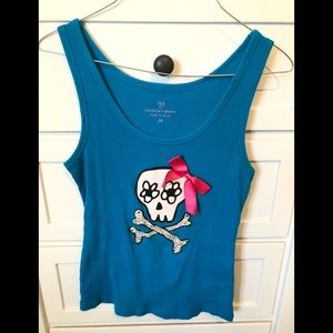 Medium Victoria secret tank top with skull
